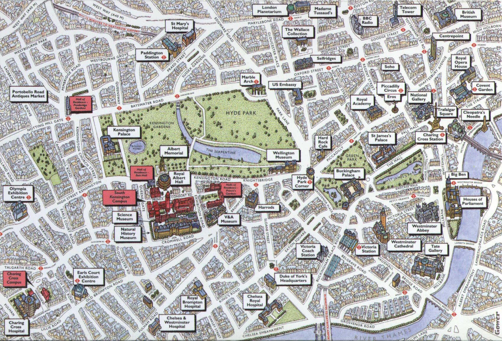 World Congress on Engineering 2015 – London Tourist Map With Tube Stations